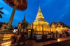 Phra di Wat che hariphunchai fotografie stock libere da diritti