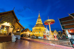 Phra di Wat che hariphunchai fotografia stock libera da diritti