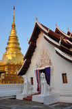 Phra die Chae Haeng - gouden pagode Stock Afbeelding