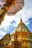 Phra die Doi Suthep in Chiangmai Stock Foto