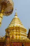 Phra That Doi Suthep (golden pagoda). Famous temples, Chiang Mai, Thailand Royalty Free Stock Images