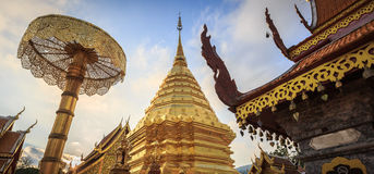 Phra That Doi Suthep Temple. Located near Chiang Mai, Thailand Royalty Free Stock Images