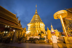Phra That Doi Suthep Temple. Located near Chiang Mai, Thailand Royalty Free Stock Photo
