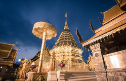 Phra That Doi Suthep Temple. Located near Chiang Mai, Thailand Royalty Free Stock Photography