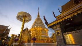 Phra That Doi Suthep Temple. Located near Chiang Mai, Thailand Stock Image