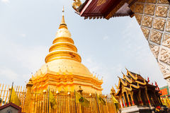 Phra that hariphunchai Royalty Free Stock Photo