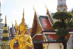 Phra Kaeo, tempel av Emerald Buddha, Bangkok Thailand Arkivfoto