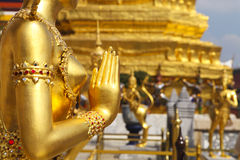 Phra Kaeo, Temple of the Emerald Buddha,Bangkok Thailand Stock Photos
