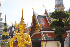 Phra Kaeo, Temple of the Emerald Buddha,Bangkok Thailand Stock Photo