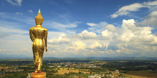 Phra That Khao Noi overlooking the town Thailand Royalty Free Stock Image