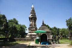 Phra That Kong Khao Noi is an ancient stupa or Chedi in Yasothon, Thailand. Phra That Kong Khao Noi is an ancient stupa or Chedi, a structure that enshrines holy stock photo