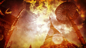 Phra Który Hariphunchai świątynia & x28; Wat Phra Ten Hariphunchai& x29; , Lanna Lamphun stylowa świątynna prowincja, Tajlandia Obrazy Royalty Free