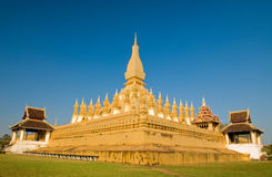 Phra That Luang at vientiane. Is very famous in Lao Stock Photography