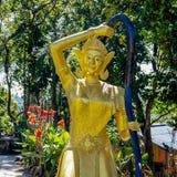 Phra Mae Thorani Vasundharā the goddes of earth. Thorani has many names according to Southeast Asian Buddhist Mythology for example Nang Thoranee or Mae Royalty Free Stock Photography
