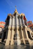 Phra Maha Chedi av Thailand med blå himmel Fotografering för Bildbyråer