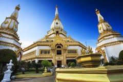 Phra Maha Chedi Chai Mongkol bei Roi Et Province, Thailand Lizenzfreies Stockfoto