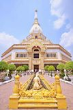 Phra Maha Chedi Chai Mongkol at Roi Et Province, Thailand. He Phra Maha Chedi Chai Mongkol or the Great, Victorious and Auspicious Pagoda is one of the largest Stock Image