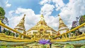Phra Maha Chedi Chai Mongkol at Roi Et Province, Thailand. He Phra Maha Chedi Chai Mongkol or the Great, Victorious and Auspicious Pagoda is one of the largest Stock Images