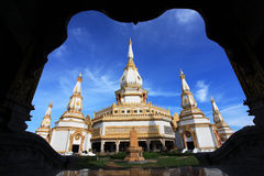 Phra Maha Chedi Chaimongkol temple at Roi et Stock Photography