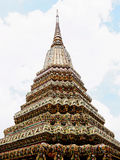 Phra Maha Chedi. Dilok is decorated with white glazed tiles Stock Images