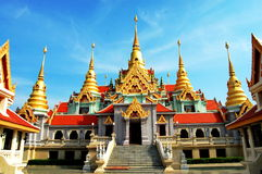 Phra Maha Chedi loyalty declaration Royalty Free Stock Photo
