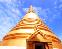Phra Maha Chedi. The pagoda has a circular shape with square base and 22 meters height Royalty Free Stock Photography