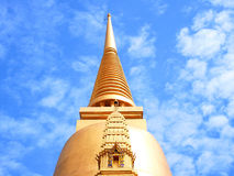 Phra Maha Chedi. The pagoda has a circular shape with square base and 22 meters height Stock Image