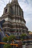 Phra Maha Chedi Si Rajakarn blue chedi at Wat Pho royalty free stock images