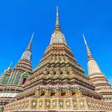 Wat Pho Temple. Phra Maha Chedi Si Rajakarn is a 42m high stupa in Wat Pho Buddhist temple complex in Bangkok, Thailand royalty free stock images