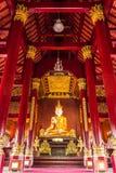 Phra maha jakkraphat Statue in Ubosot Wat Raja Mon Thian , Chian Stock Image