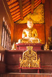 Phra maha jakkraphat Statue in Ubosot Wat Raja Mon Thian , Chian Royalty Free Stock Photo