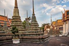 Phra Maha Stupa van Wat Phra Chetuphon in Bangkok Royalty-vrije Stock Fotografie