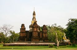 Phra Mahatat Chedi of Sukhothai in Ancient City Stock Images