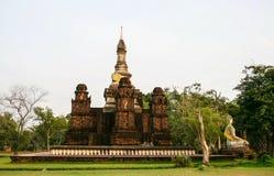 Phra Mahatat Sukhothai Chedi在古城 库存图片