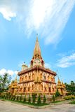 Phra Mahathat Chedi. At Wat Chalong,Phuket,Thailand royalty free stock photography