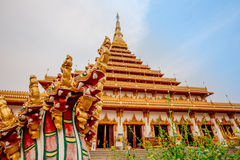 Phra Mahathat Kaen Nakhon Royaltyfri Fotografi
