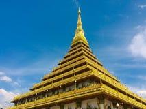Phra Mahathat Kaen Nakhon, Khonkaen Tailandia - tempio pubblico Fotografie Stock
