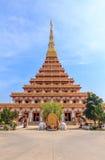 Phra Mahathat Kaen Nakhon. Wat nong wang,The most beautiful temple in Thailand - Khon Kaen Royalty Free Stock Image