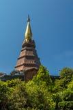 Phra Mahathat Napametanidon in Doi Inthanon Royalty-vrije Stock Foto's