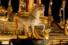Exhibition on royal cremation ceremony of His Majesty King Bhumibol Adulyadej,Sanam Luang Ceremonial Ground,Bangkok,Thailand on No royalty free stock image
