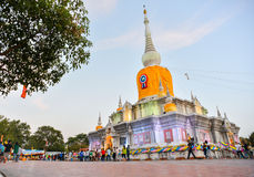Phra That Na Dun Temple on Makha Bucha day Royalty Free Stock Photos