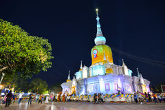 Phra That Na Dun Temple on Makha Bucha day Stock Images