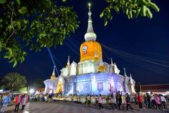 Phra That Na Dun Temple on Makha Bucha day Royalty Free Stock Photo
