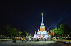 Phra That Na Dun Temple on Makha Bucha day Stock Image