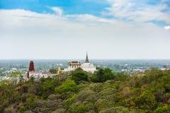 Phra Nakhon historiska Khiri parkerar (Khao Wang) Arkivfoto