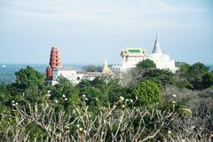 Phra Nakhon Khiri é um parque histórico em um monte em Phetchaburi, Imagens de Stock Royalty Free