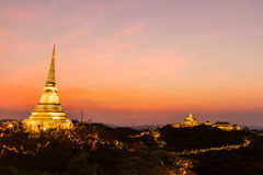 Phra Nakhon Khiri festival on sunset at Phetchaburi Stock Image