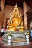 Phra Nakhon Si Ayutthaya, Thailand - April 08, 2018: Buddha statues in Phra   Nakhon Si Ayutthaya, at yai chaimongkol Thailand, on. Phra Nakhon Si Ayutthaya Royalty Free Stock Photography