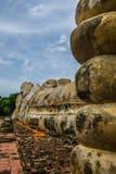 Phra Nakorn Sri Ayutthaya prowincja, Tajlandia na Sierpień 21,2018: Piękny wielki opiera BuddhaPhra Buddha Sai Yat przy Watem Lok obrazy royalty free
