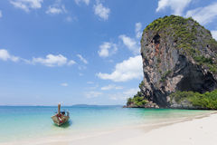 泰国- Phra Nang海滩 免版税库存照片